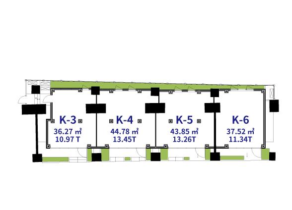 NAKAME GALLERY STREET  K-3~K-6の図面